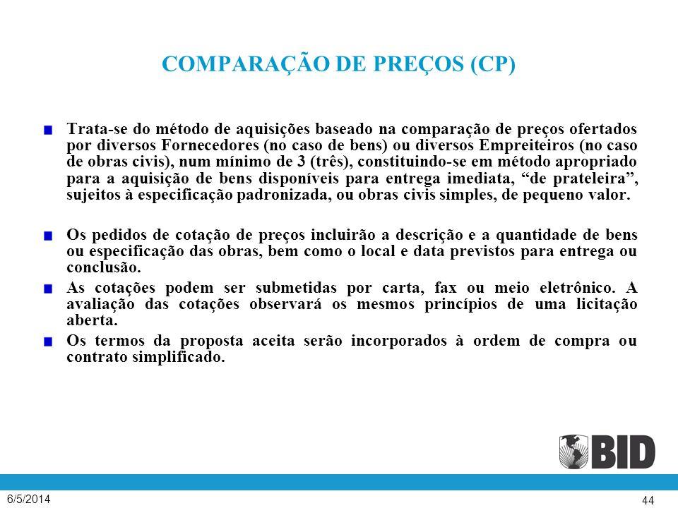 COMPARAÇÃO DE PREÇOS (CP)