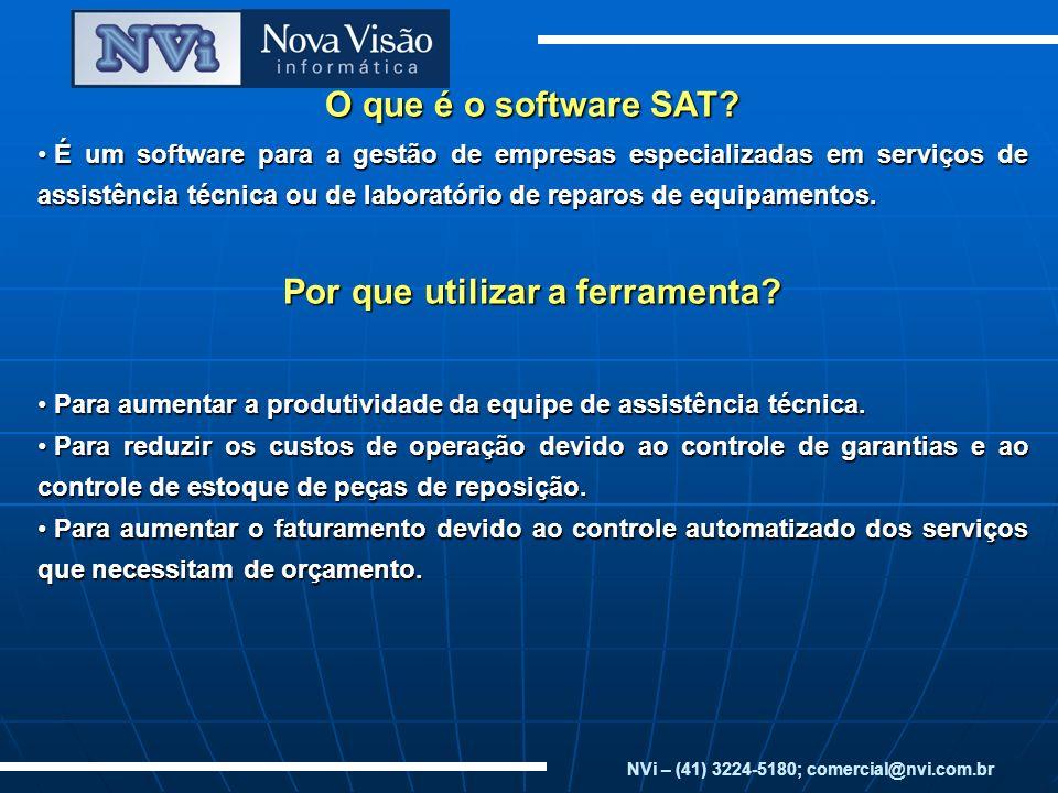 O que é o software SAT Por que utilizar a ferramenta