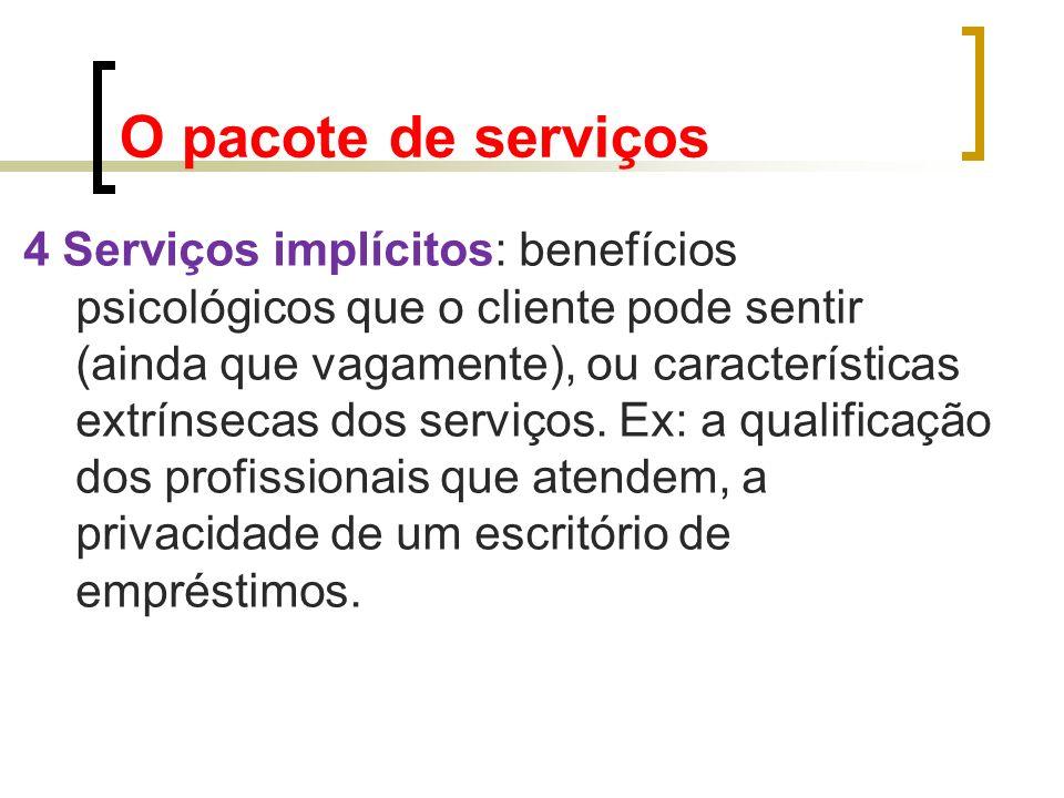 O pacote de serviços