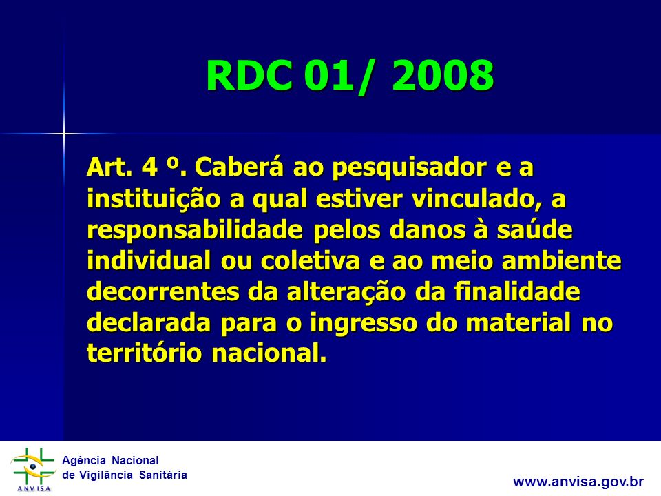 RDC 01/ 2008