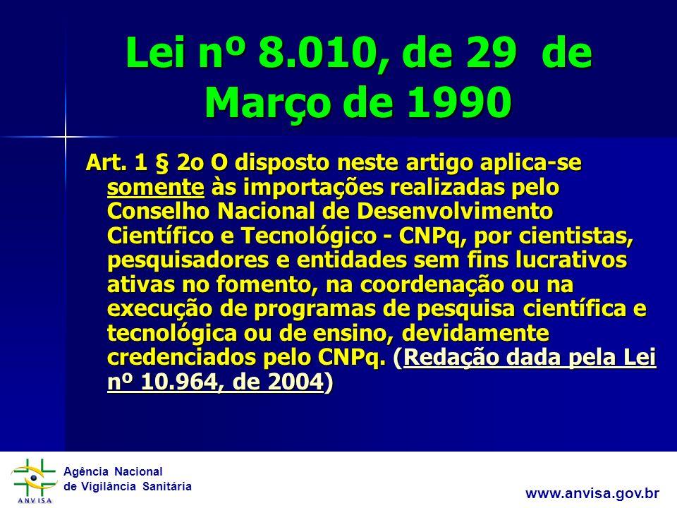 Lei nº 8.010, de 29 de Março de 1990
