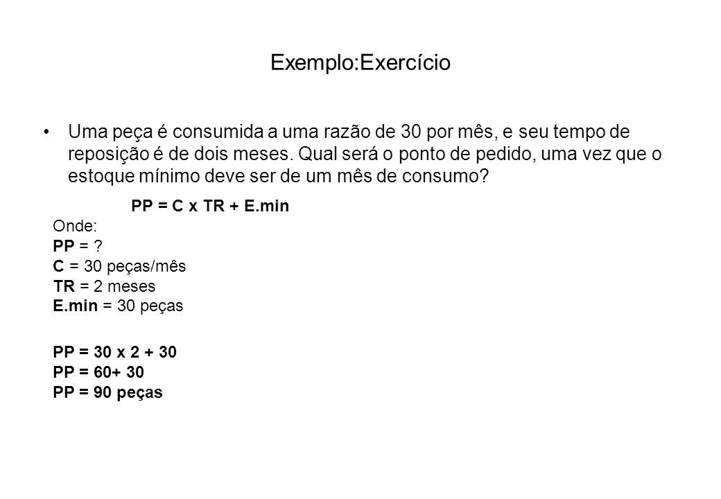 Exemplo:Exercício
