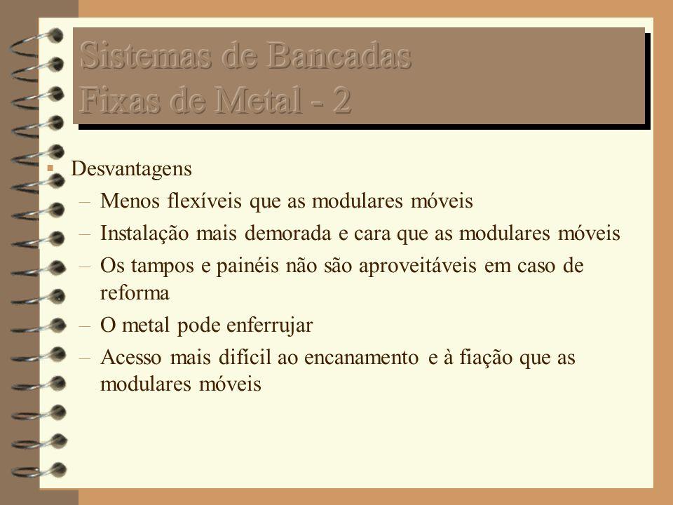 Sistemas de Bancadas Fixas de Metal - 2