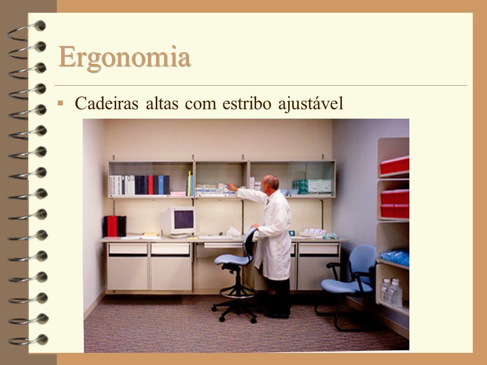Ergonomia Cadeiras altas com estribo ajustável