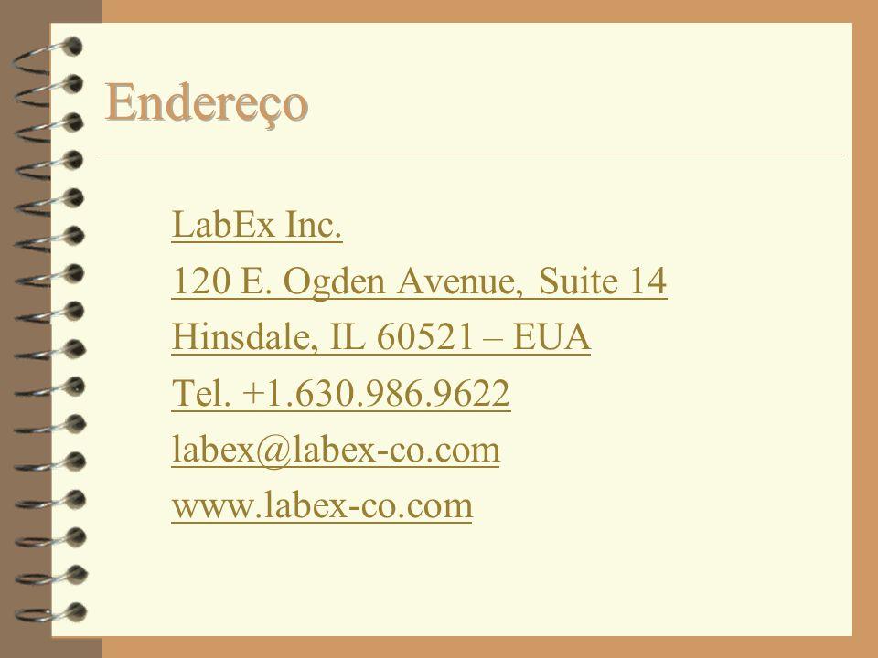 Endereço LabEx Inc. 120 E. Ogden Avenue, Suite 14