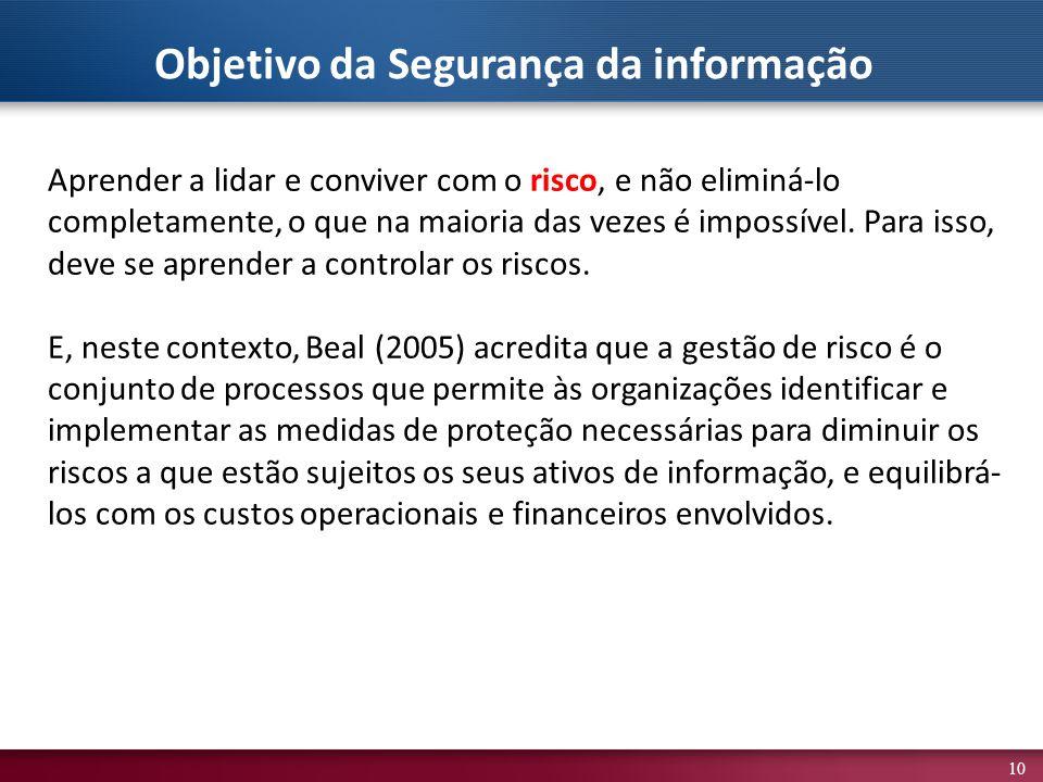 Objetivo da Segurança da informação