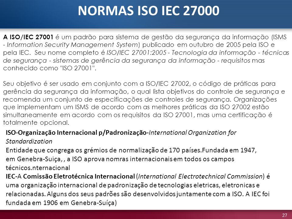 NORMAS ISO IEC 27000