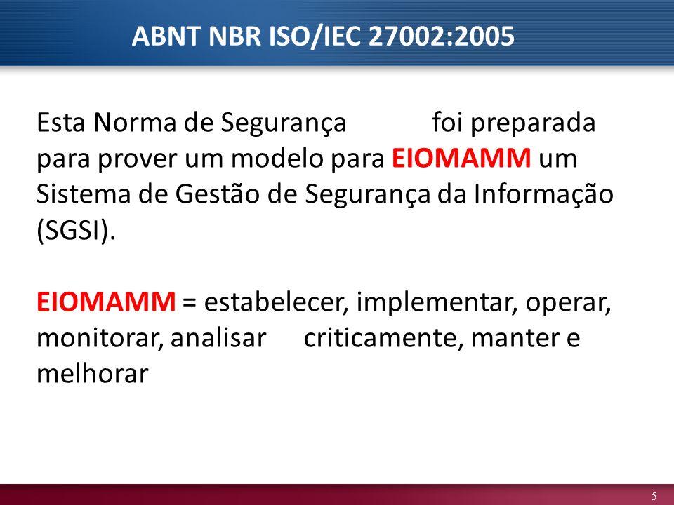 ABNT NBR ISO/IEC 27002:2005