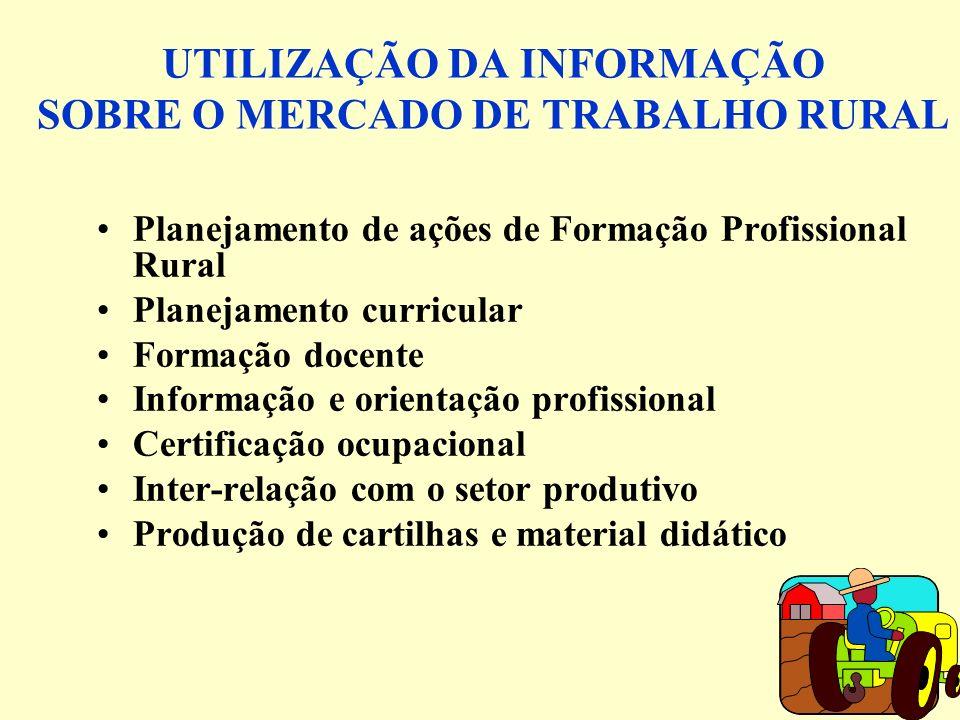 UTILIZAÇÃO DA INFORMAÇÃO SOBRE O MERCADO DE TRABALHO RURAL