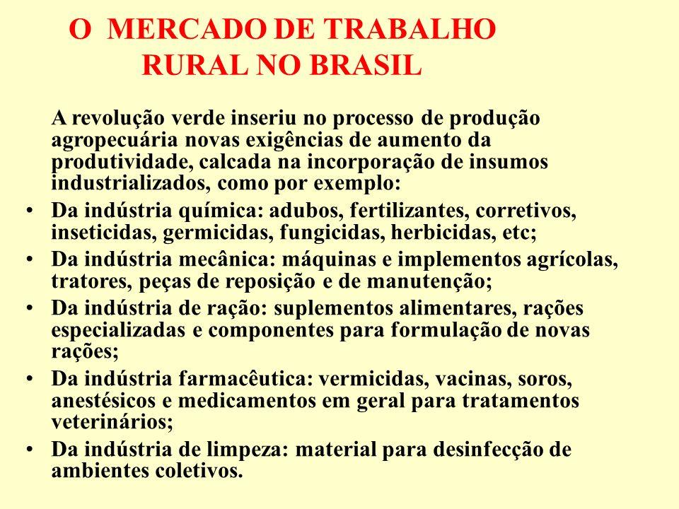 O MERCADO DE TRABALHO RURAL NO BRASIL