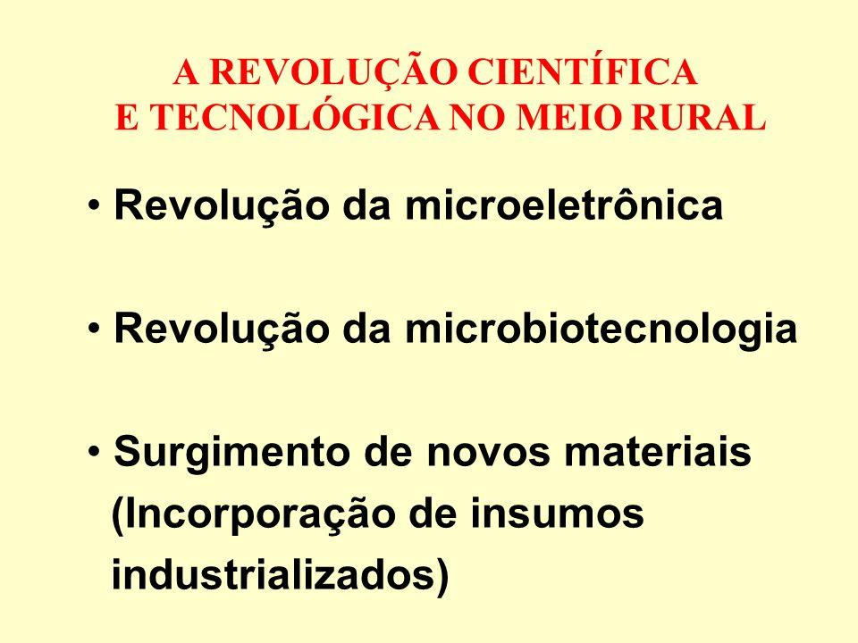 A REVOLUÇÃO CIENTÍFICA E TECNOLÓGICA NO MEIO RURAL