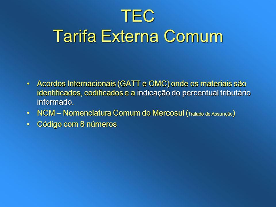 TEC Tarifa Externa Comum