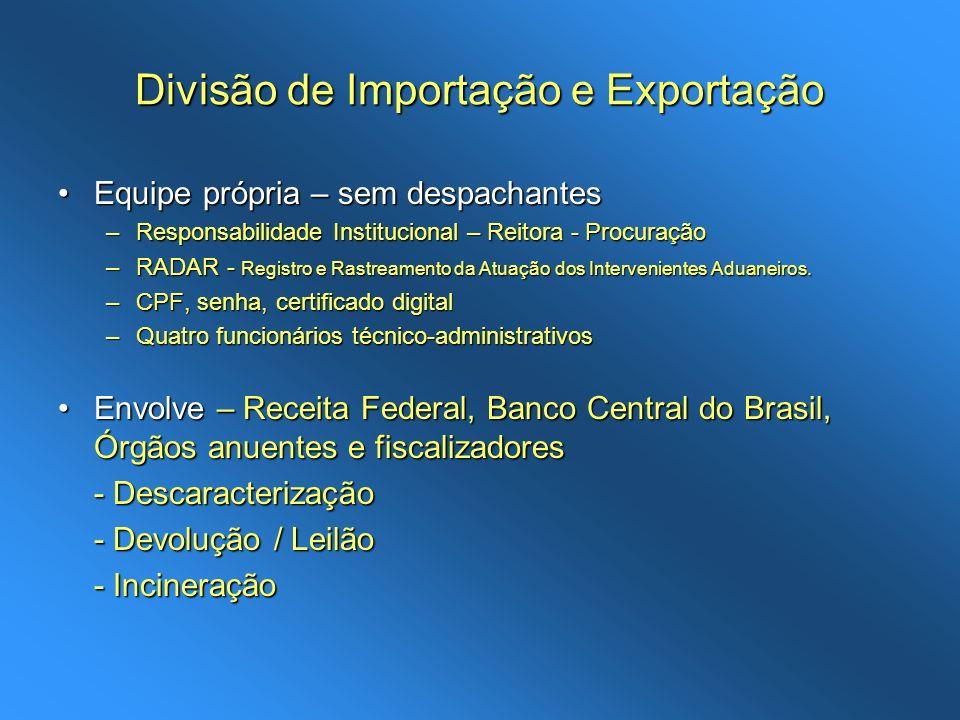 Divisão de Importação e Exportação