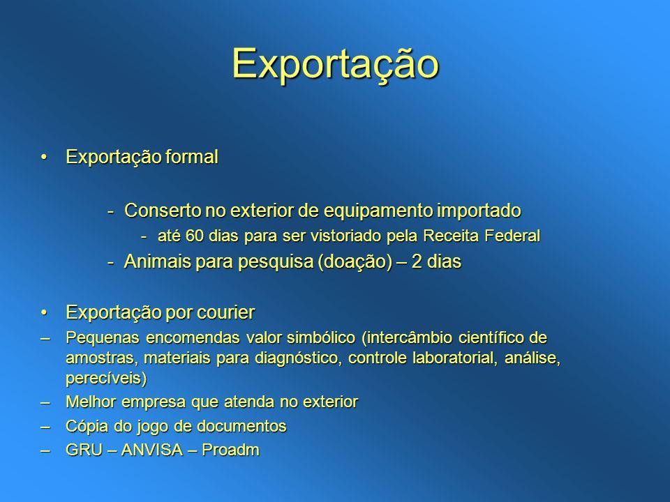 Exportação Exportação formal