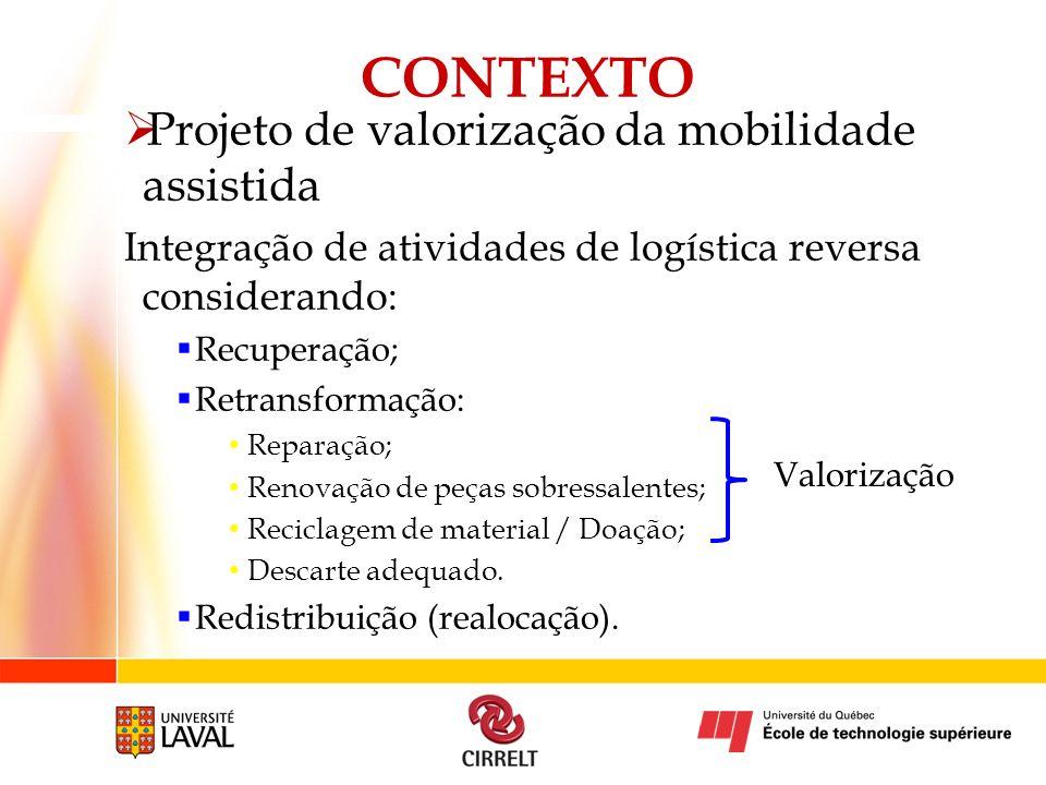 CONTEXTO Projeto de valorização da mobilidade assistida