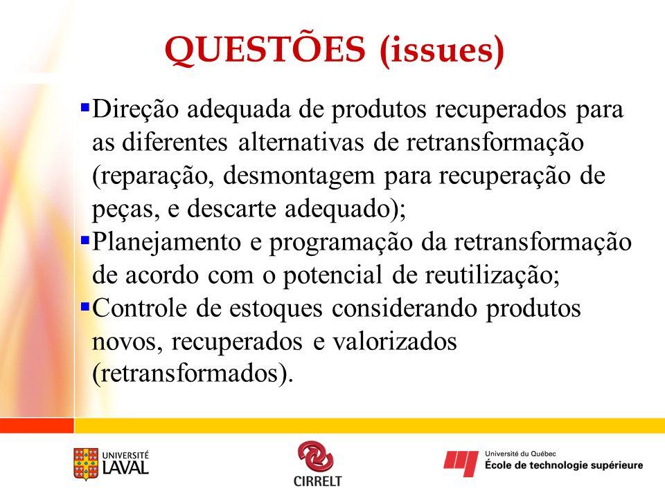 QUESTÕES (issues)