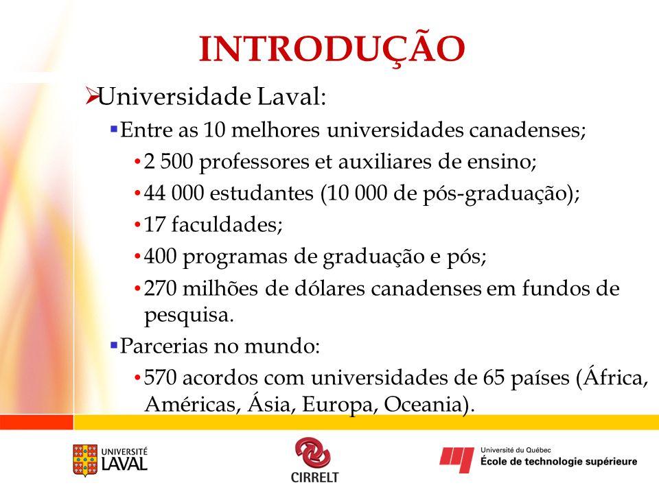 INTRODUÇÃO Universidade Laval: