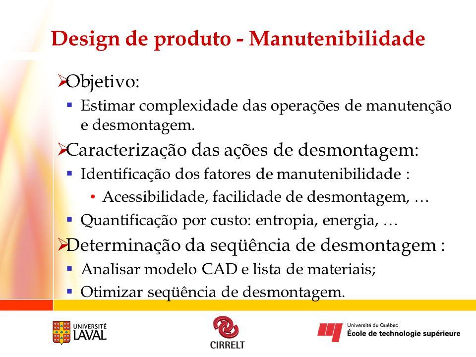 Design de produto - Manutenibilidade