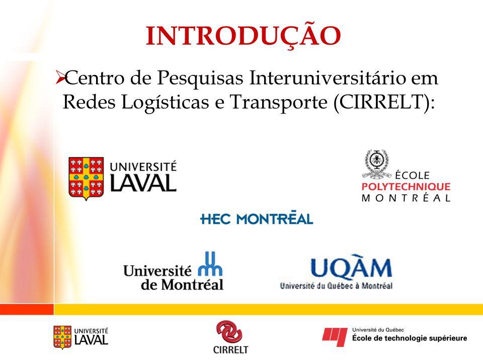 INTRODUÇÃO Centro de Pesquisas Interuniversitário em Redes Logísticas e Transporte (CIRRELT):