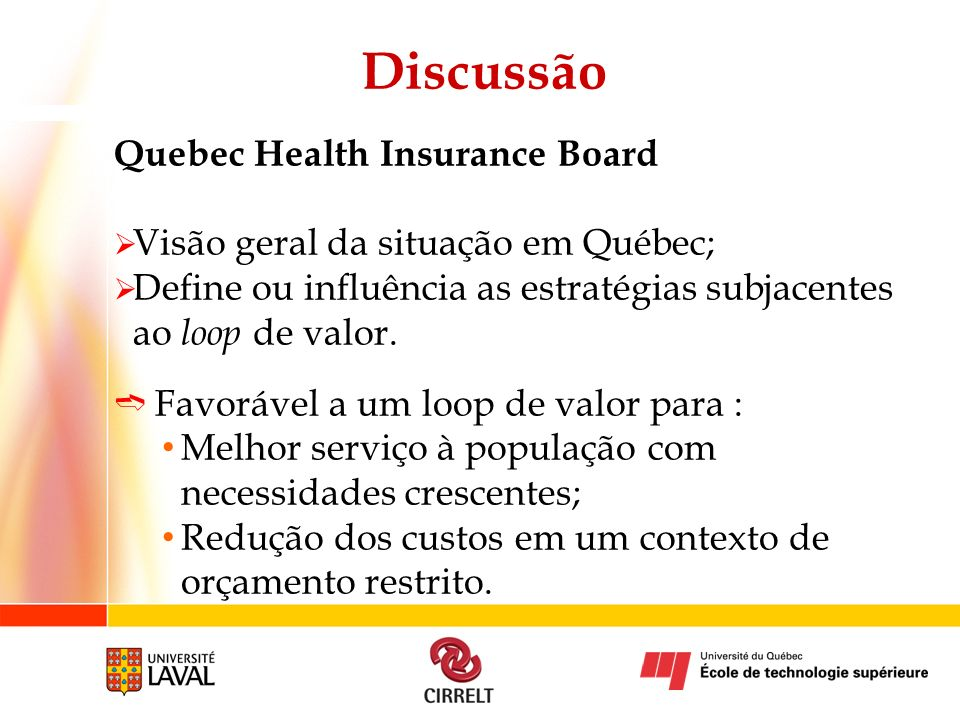 Discussão Quebec Health Insurance Board