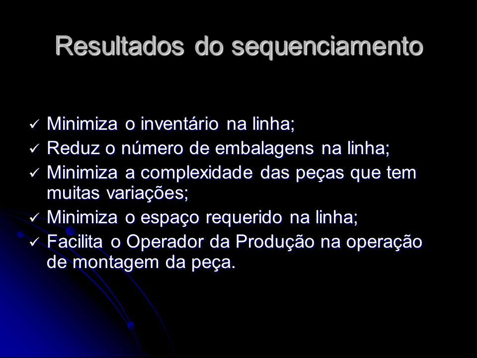 Resultados do sequenciamento