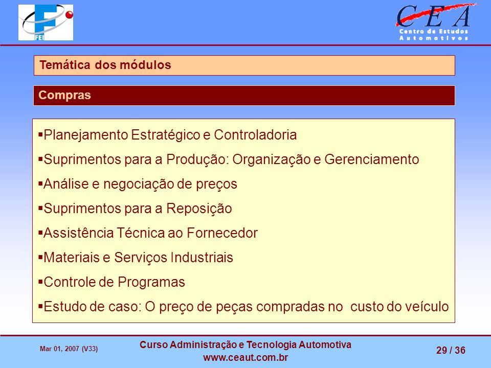 Curso Administração e Tecnologia Automotiva
