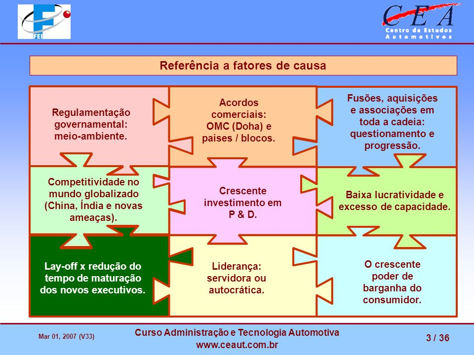 Referência a fatores de causa