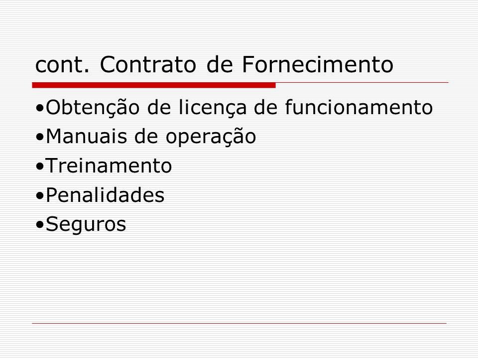 cont. Contrato de Fornecimento