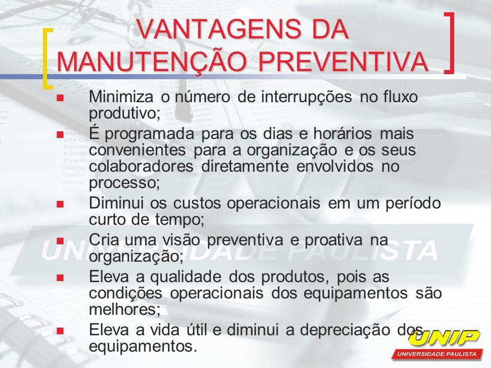 VANTAGENS DA MANUTENÇÃO PREVENTIVA