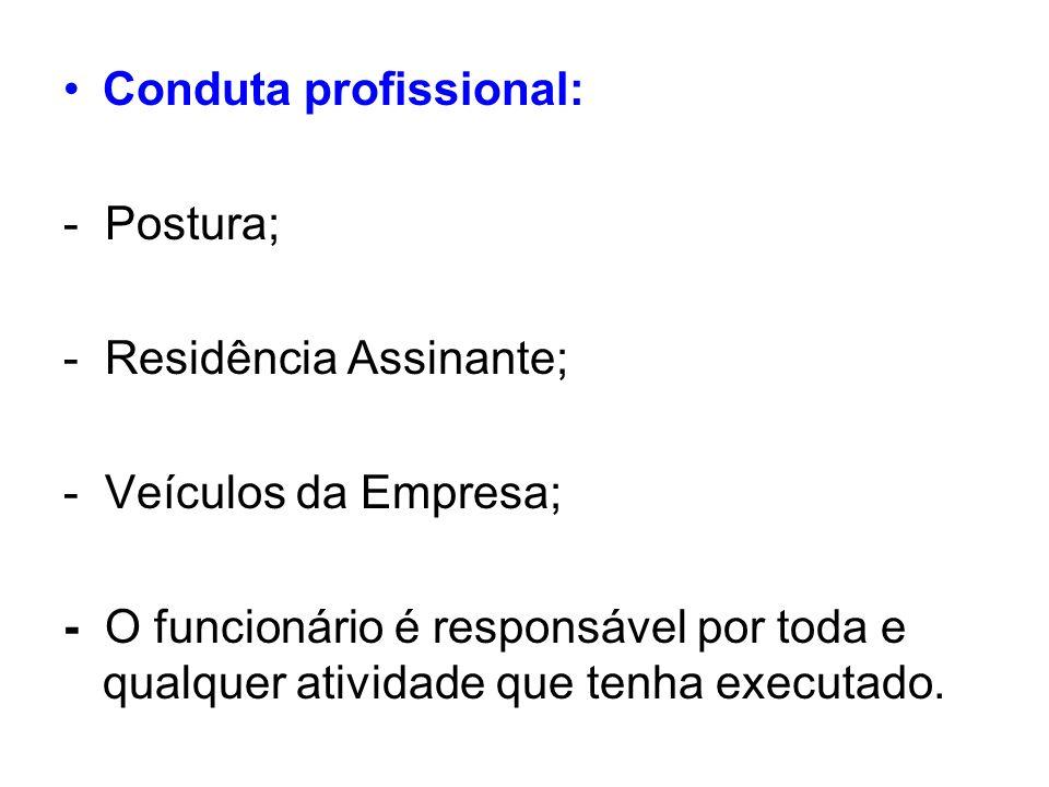 Conduta profissional: