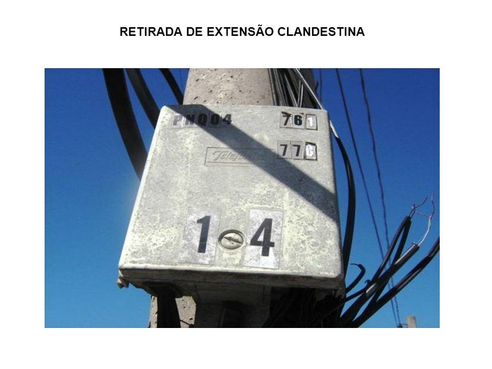 RETIRADA DE EXTENSÃO CLANDESTINA