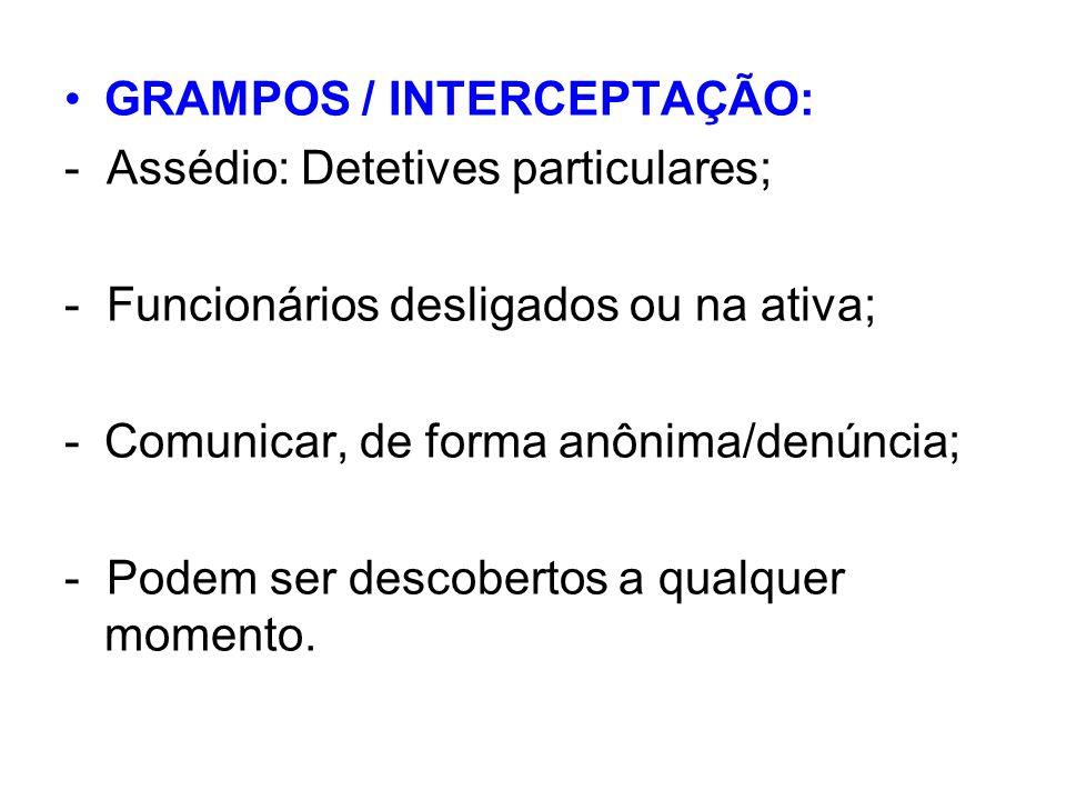 GRAMPOS / INTERCEPTAÇÃO: