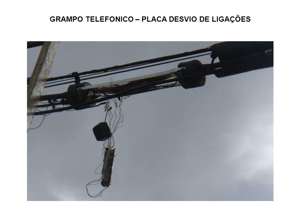 GRAMPO TELEFONICO – PLACA DESVIO DE LIGAÇÕES