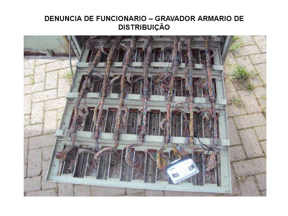 DENUNCIA DE FUNCIONARIO – GRAVADOR ARMARIO DE DISTRIBUIÇÃO