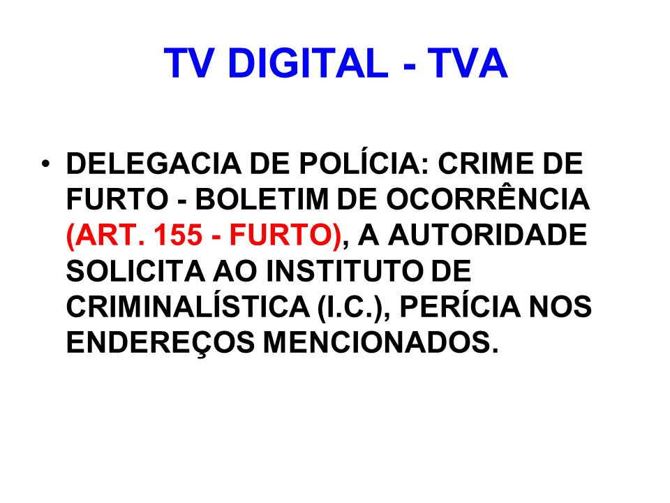 TV DIGITAL - TVA