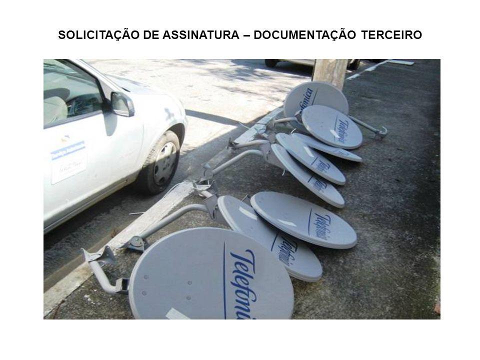 SOLICITAÇÃO DE ASSINATURA – DOCUMENTAÇÃO TERCEIRO