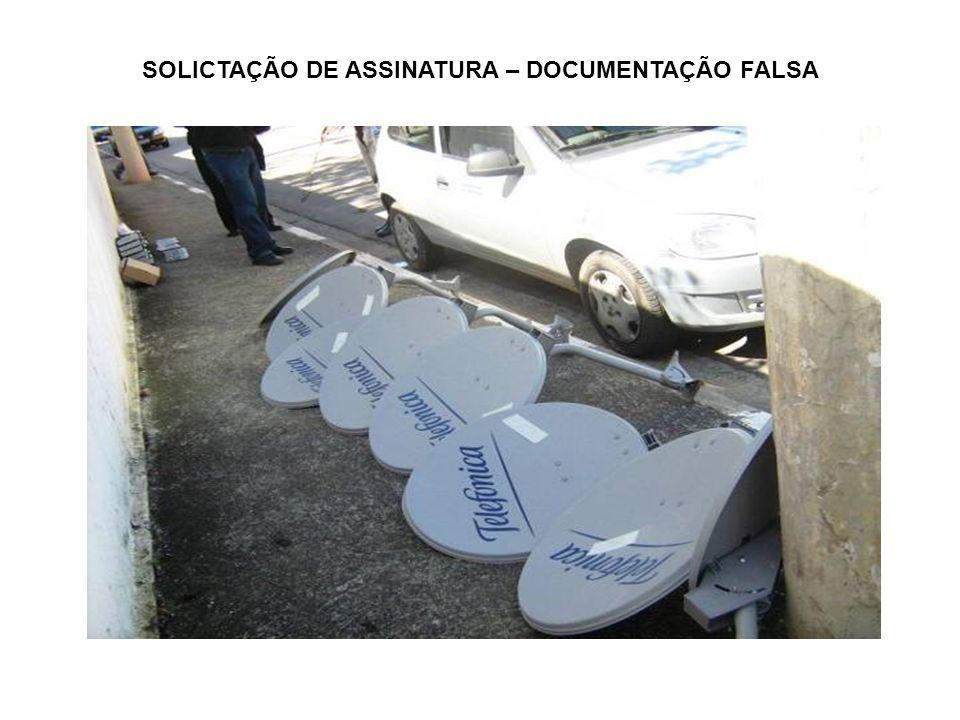 SOLICTAÇÃO DE ASSINATURA – DOCUMENTAÇÃO FALSA