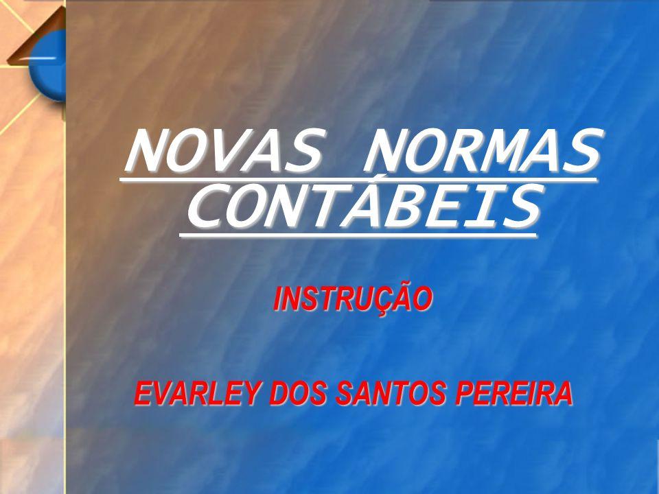 NOVAS NORMAS CONTÁBEIS