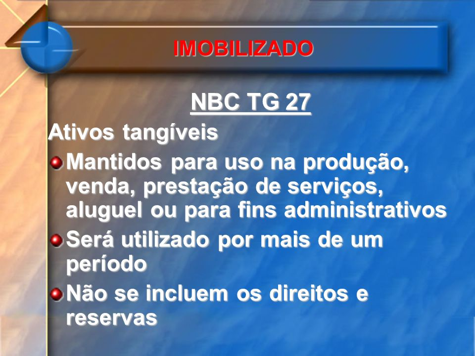 NBC TG 27 Ativos tangíveis