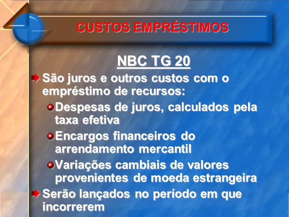 NBC TG 20 CUSTOS EMPRÉSTIMOS