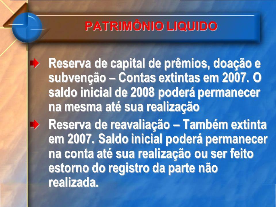 PATRIMÔNIO LIQUIDO