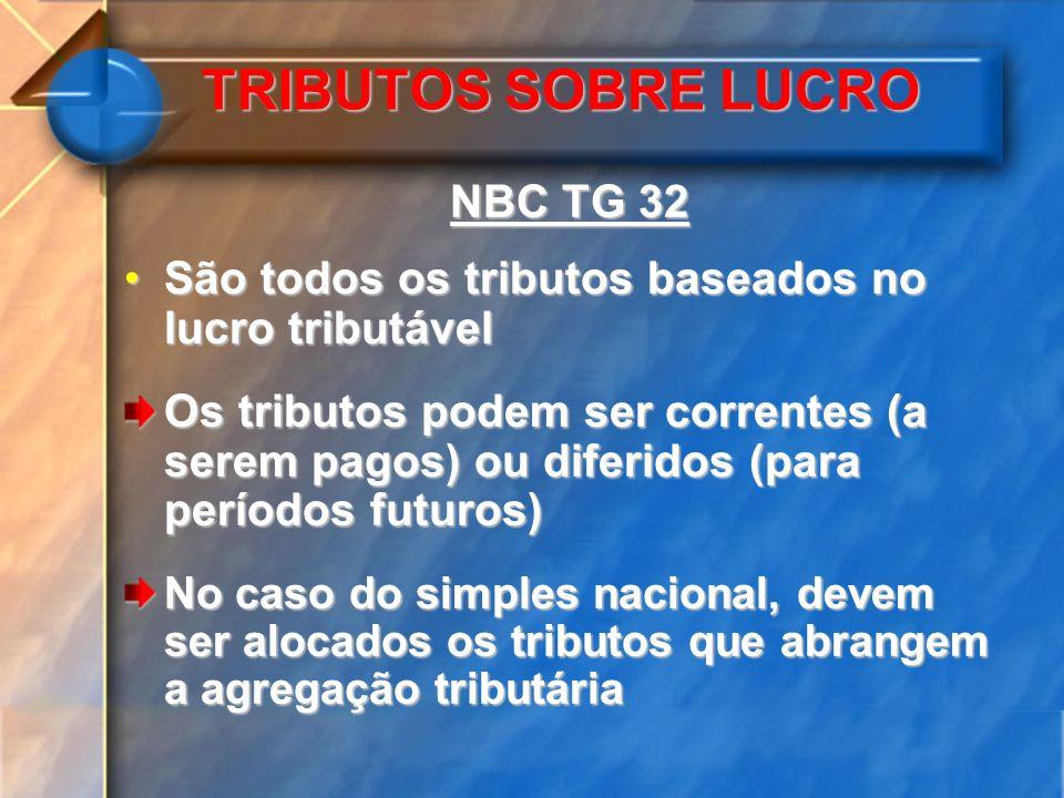 TRIBUTOS SOBRE LUCRO NBC TG 32