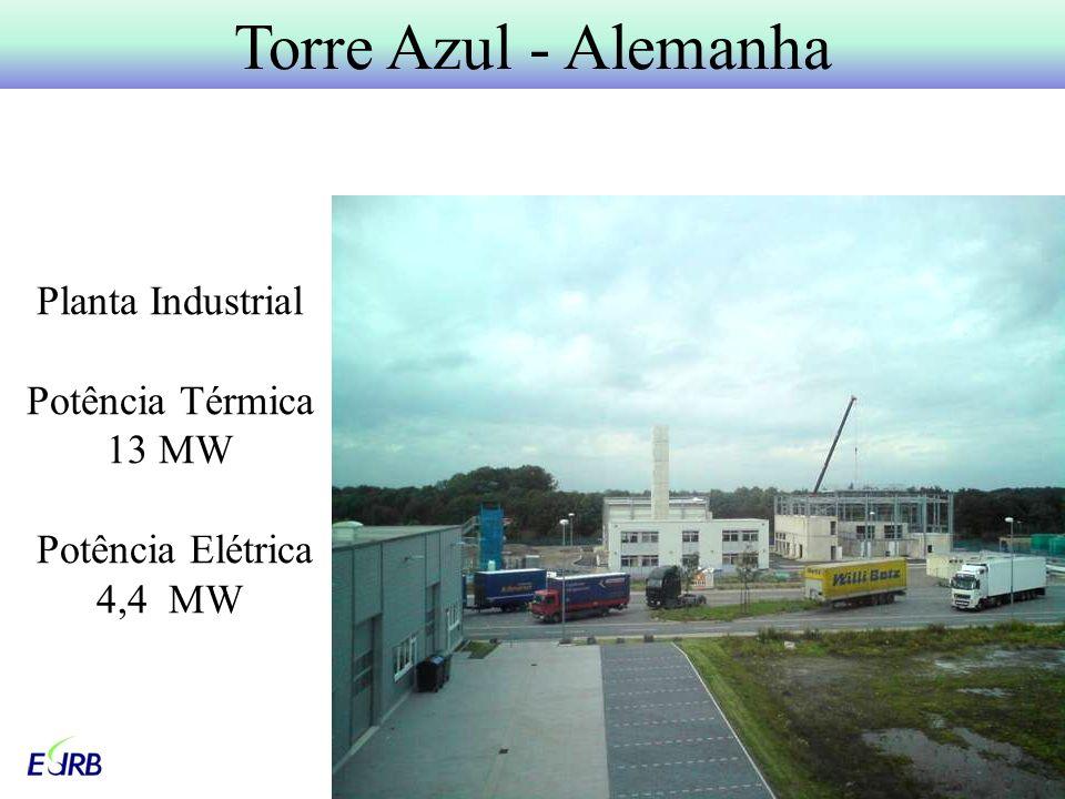 Planta Industrial Potência Térmica 13 MW Potência Elétrica 4,4 MW
