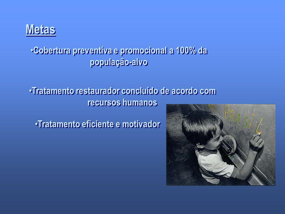 Metas Cobertura preventiva e promocional a 100% da população-alvo