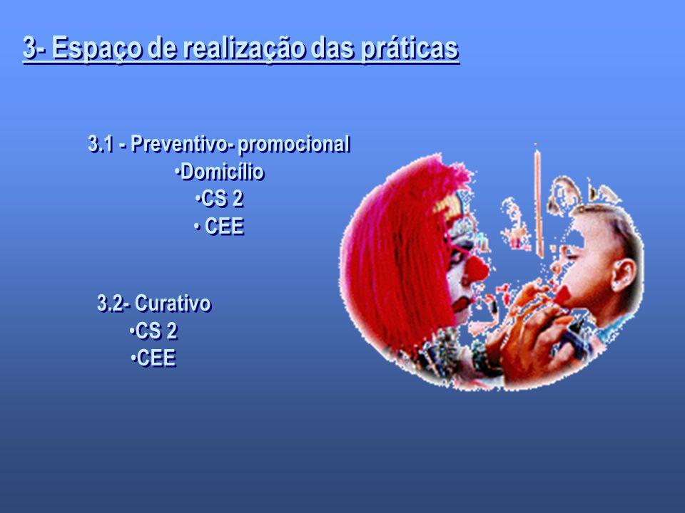 3- Espaço de realização das práticas 3.1 - Preventivo- promocional