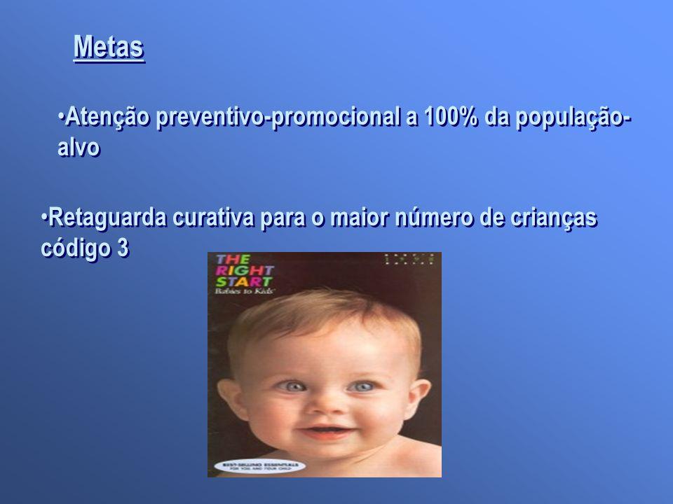 Metas Atenção preventivo-promocional a 100% da população- alvo