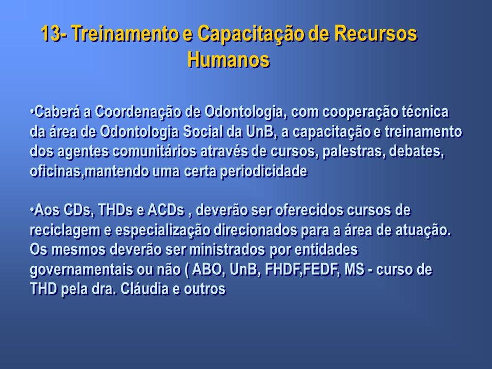 13- Treinamento e Capacitação de Recursos Humanos