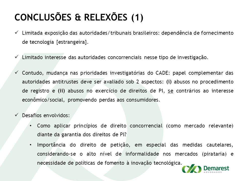 CONCLUSÕES & RELEXÕES (1)