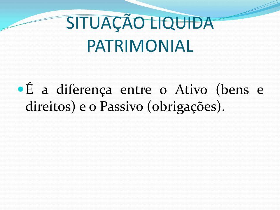SITUAÇÃO LIQUIDA PATRIMONIAL