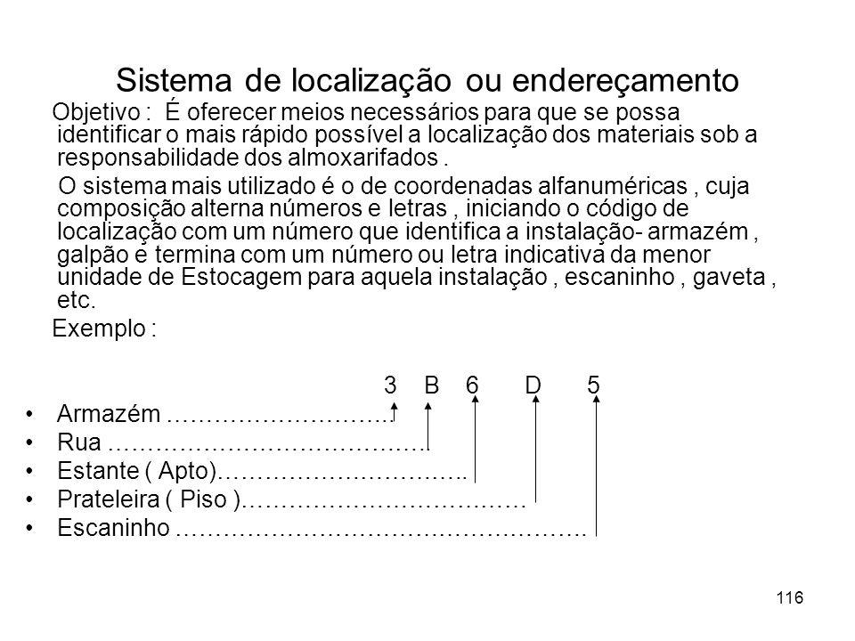 Sistema de localização ou endereçamento